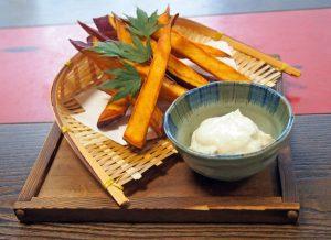 金太郎芋のスティックフライ